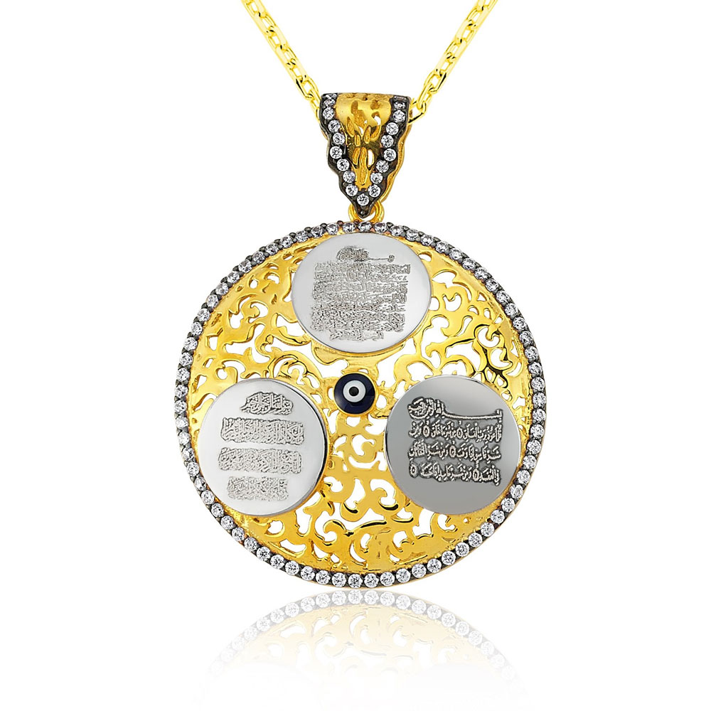 Protective evil eye necklace islamic jewelry organizationislamic protective evil eye necklace aloadofball Image collections