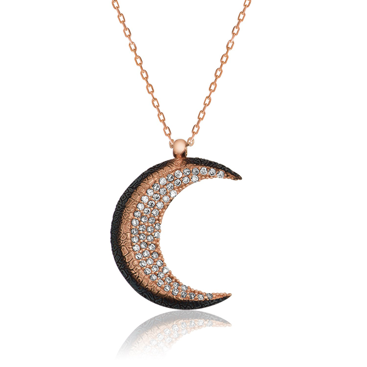 Crescent silver ladies necklace islamic jewelry storeislamic crescent silver ladies necklace ij1 1843 islamic jewelry aloadofball Images